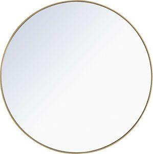 "Elegant Eternity 48"" Circular Beveled Metal Framed Bathroom Mirror - MR4048BR"