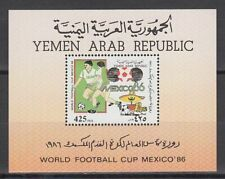 Yemen 1988 ** Bl.251 Fußball Football Socce WM Worldcup Mexico Sport Game Scene