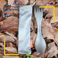 1PCS Outdoor PicincTitanium Camping Spork Fork Spoon Backpacking 2in1 Cookware