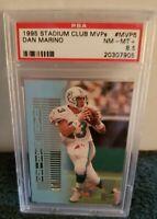 1995 Stadium Club MVP'S Dan Marino Miami Dolphins  #MVP6  PSA 8.5 NM-M