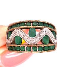 Ring in 10k Yellow Gold 1.75ct Emerald and Diamond Right Hand