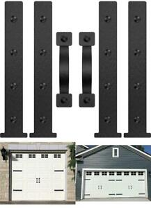 Magnetic Decorative Garage Door Hardware 6 Pieces Carriage Accents Faux Hand Kit
