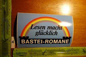 Alter Aufkleber Literatur Verlag BASTEI-ROMANE (B)