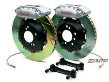 Brembo FRONT GT Brake 4Pot Silver 328x28 Slot CL 01-03 TL 99-03 Accord V6 98-02