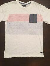 Quiksilver Boys Pocket T Shirt Youth Large Short Sleeve White EUC -