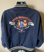 Vintage Disney Store Winnie The Pooh Bear Essentials Letterman Jacket Men's 2XL