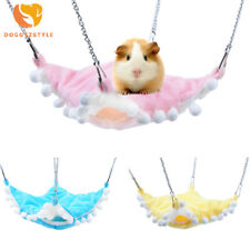 Hot Pet Rat Parrot Hamster Hammock Double Layer Rest Bed Warm Soft Hanging House