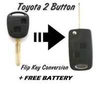 TOYOTA LANDCRUISER PRADO 2 BUTTON REMOTE FLIP KEY FOB CASE CONVERSION