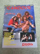 CANDOUR Helloween exodus Testament Kreator Judas Priest Vol 1 No1 1989 MAGAZINE!