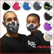 Cotton Face Mask Filter Pocket Reusable Washable Breathable Mens Womens Children