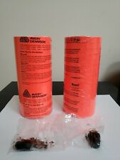 2 Genuine Sleeves Fluorescent Red Label For Monarch 1110 Pricing Gun 32rolls