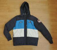 Men's Ellesse Apres Ski Dolomites Winbreaker Coat Jacket Blue White O1-A1