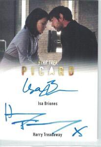 Star Trek Picard auto card Harry Treadaway and Isa Briones (Dual)(Scarce)