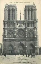 France Postcard Paris Notre Dame Cathedral