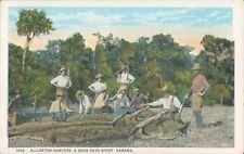 PANAMA alligator hunters animated PC 1920s