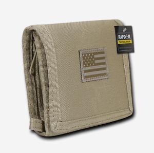 RAPDOM Men's Tri-Fold Wallet Tactical Non Stick ID Window 18 Compartment/Pocket