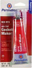 Permatex 81160 HIGH-TEMP RED RTV Silicone Gasket Maker 3oz Tube