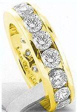 3.51 carat Diamond Eternity Ring Wedding Band, Channel set 14k Yellow Gold, sz 6