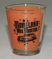 Vintage Shot Glass - Movieland Wax Museum Shot Glass - Orange
