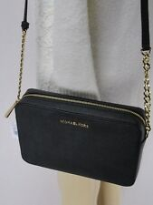 feabec8d51f7 MICHAEL KORS SAFFIANO LEATHER JET SET EW CROSSBODY BAG BLACK OR BIFOLD  WALLET