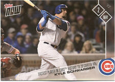 Kyle Schwarber Chicago Cubs Topps Now #107 May 2 2017 Baseball Card