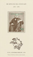 Brazil (2313) - 1979 UPU & Rowland Hill m/sheet imperf surch in green unmounted