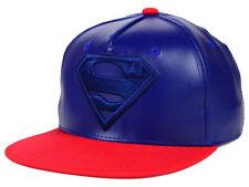 Superman DC Comics Men's Matte Crown Snapback Hat Cap - Blue/Red