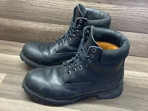 Timberland 6-Inch Premium Waterproof Black Leather Men's Boots 10054 Size 10
