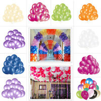 "Latex Plain Helium Baloon Balloons Quality Party Birthday Wedding Decoration 10"""