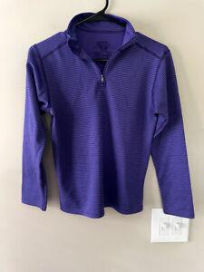 Patagonia Girl's Capilene 1/4 Zip Pullover Purple Black Size Large