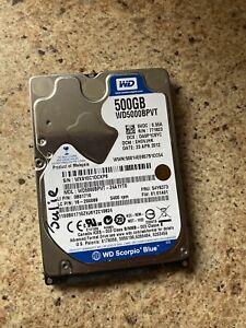 """Western Digital 500GB 2.5"""" 5400 RPM, 2.5"""" SATA Hard Drive HDD WD5000BPVT"""