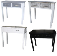 Shabby Chic Console Dressing Table Wood Drawer Colours Hallway Bedroom Furniture