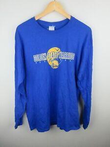 Golden State Warriors Basketball Mens T Shirt Size L NBA Crew Neck Long Sleeve
