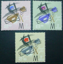 1966  MALTA: QE II: MALTA TRADE FAIR: SET OF 3 MNH STAMPS