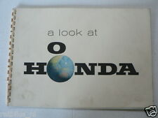 HONDA A LOOK AT HONDA FACTORY AND MODELS 1963 ORIGINAL BOOK MOTORCYCLE