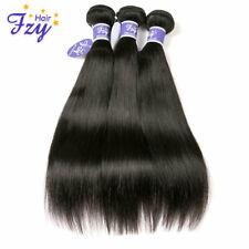 3Bundle/300g Peruvian Straight Hair Weave Virgin Real Human Hair Weft Extensions