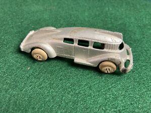 Vintage Hubley Silver Cast Iron Streamline Bus #2302
