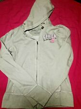 """Soffe Chic Cheer Fitted Sweatshirt Size L """"Cheer for the Cause"""" Breast Cancer"""