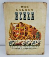 Vintage Giant Golden Books The Golden Bible Old Testament 1946 First Edition HC