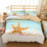 Single/Double/Queen/King Bed Doona/Duvet/Quilt Cover Set Starfish Pillowcase