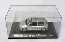 Renault 1999 Sport Clio V6. Gris métal  Renault Collection U-H . Norev. M6 1/43