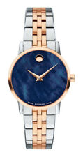 Movado Museum Classic Armbanduhr für Damen 28mm Edelstahlgehäuse mit Zweifarbig Gliederarmband - (607268)