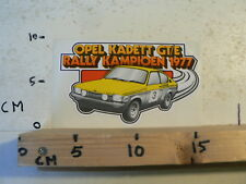 STICKER,DECAL OPEL KADETT GT/E RALLY KAMPIOEN 1977 RALLYE CAR A