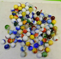 #11050m Group or Bulk Lot of 100 Mixed Company Patch Marbles .47 to .73 In