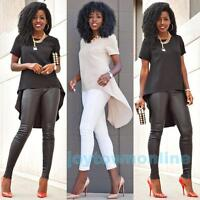 Fashion Womens Tops Casual Tee Long Tops T-shirt Irregular Loose Blouse Size 5XL