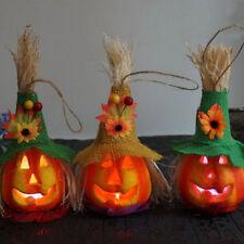 Straw Pumpkin Light Halloween Festival Decoration Party Children For Funny