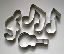 Music Symbol Notes Guitar Cookie Cutter Fondant Biscuit Metal baking Mold Set