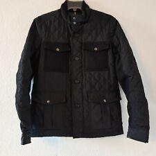 Banana Republic 4 Pocket Cargo Jacket Black Coat Small Quilted Men's Full Zip