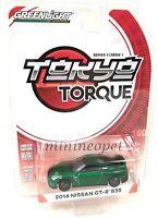 GREENLIGFHT 29880 F TOKYO TORQUE 2014 NISSAN SKYLINE GT-R R35 1/64 GREEN Chase