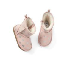 BABY GAP Girl Cozy pink boots booties NWT 8 n13 nnn